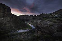 Crépuscule dans la vallée Photo libre de droits