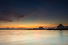 Crépuscule dans le début de la matinée Photo libre de droits