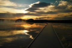 Crépuscule dans le Hot Springs photo libre de droits