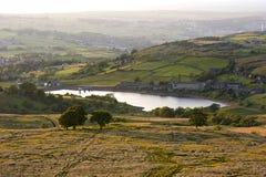 Crépuscule dans les vallées de Yorkshire Images libres de droits