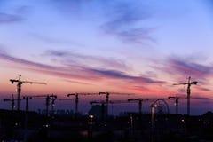 Crépuscule dans Tianjin Photo libre de droits