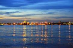 Crépuscule de chantier naval Images libres de droits