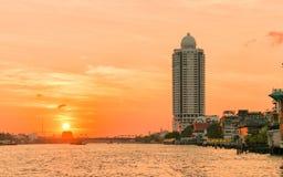crépuscule de coucher du soleil Photos stock