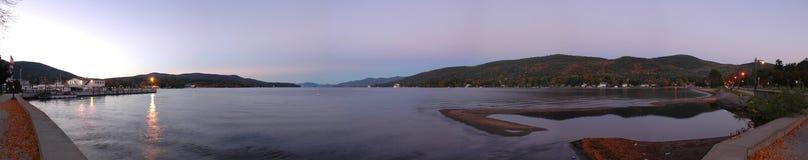 Crépuscule de George de lac photographie stock