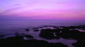 Crépuscule de Goa Photos stock