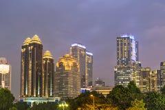 Crépuscule de Jakarta Photos libres de droits