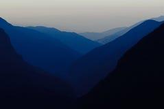 Crépuscule de l'Himalaya Photo libre de droits
