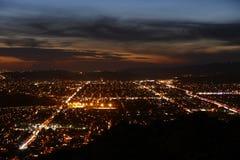 Crépuscule de la Californie du sud Image stock