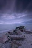 Crépuscule de Laboe Images libres de droits