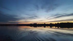 crépuscule de lac Image stock