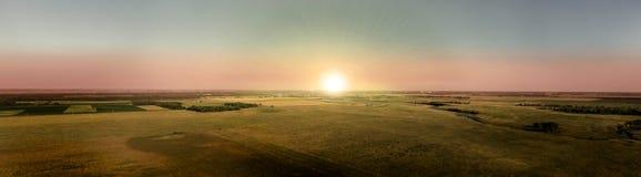 Crépuscule de Midwest photo stock