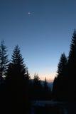 Crépuscule de montagne Image libre de droits