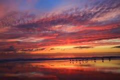 Crépuscule de plage images libres de droits