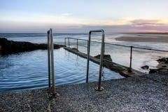 crépuscule de plage Photos libres de droits