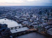 Crépuscule de pont de Londres de St Paul Photos stock