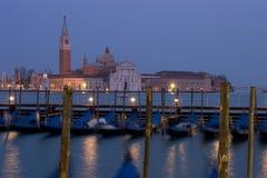 Crépuscule de Venise Maggiore Images libres de droits