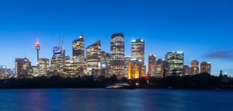 Crépuscule de ville de Sydney Image stock