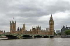 Crépuscule du Parlement britannique Image libre de droits