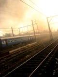 Crépuscule ferroviaire Photographie stock libre de droits