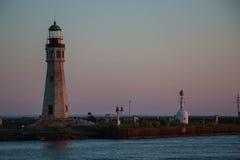Crépuscule léger principal de Buffalo Images stock