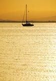 Crépuscule mars Menor, Espagne Photographie stock libre de droits