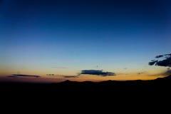 Crépuscule renversant de bleu de ciel Images libres de droits