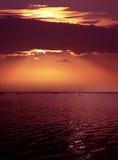 Crépuscule rose Image libre de droits
