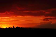 Crépuscule rouge Images stock
