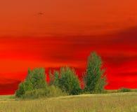 Crépuscule rouge Photo libre de droits