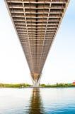 Crépuscule sous le pont de Bhumibol de vue Images libres de droits