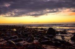 Crépuscule sur en Islande Photographie stock