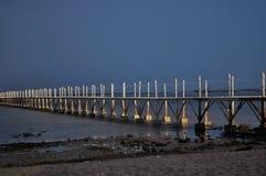 Crépuscule sur la mer Images stock