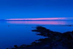 Crépuscule sur le fleuve 2 Photographie stock libre de droits