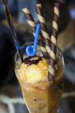 Crême de café et glacée Photo libre de droits