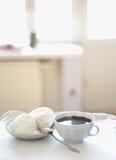 Crême de café et glacée Photographie stock libre de droits