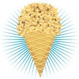 Crême glacée avec des noix Image stock