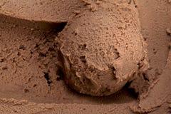 Crême glacée crémeuse de chocolat Images libres de droits