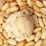 Crême glacée de beurre d'arachide Photographie stock