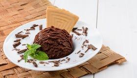 Crême glacée de chocolat image libre de droits