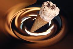 Crême glacée de chocolat Photographie stock