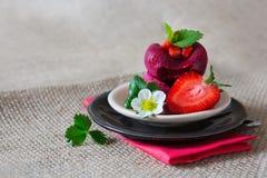 Crême glacée de fraise images libres de droits