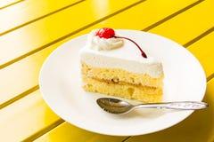 Crême glacée de gâteau Images libres de droits