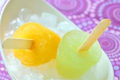 Crême glacée de sucette Photo stock