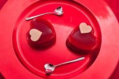 Crême glacée du jour de Valentine de saint Photo libre de droits