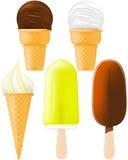 Crême glacée et Popsicle Photos stock