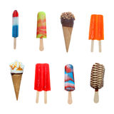 Crême glacée et Popsicles (FICHIER ÉNORME) Photo libre de droits