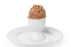Crême glacée faite maison de chocolat Photos libres de droits