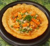 Crêpe avec des légumes Images stock