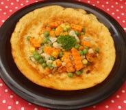 Crêpe avec des légumes Photos libres de droits