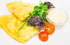 Crêpe avec du fromage Image stock